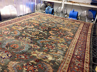 Drying large rug