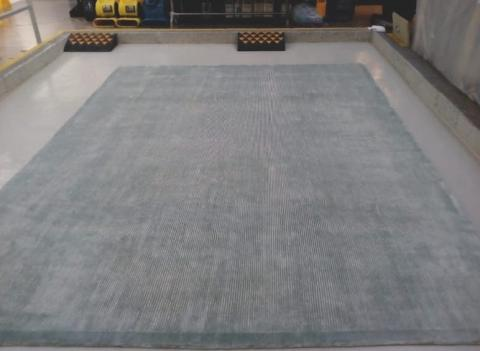 Viscose rug after stain removal